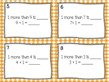 Math Task Cards (Addition Plus One)