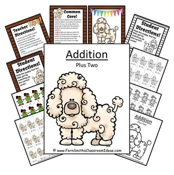 Addition Plus Two Centers A Quick and Easy to Prep Center and Printables Bundle