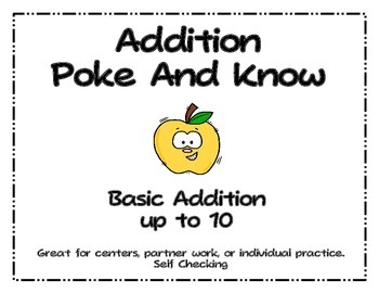 Addition Poke and Know Up to 10