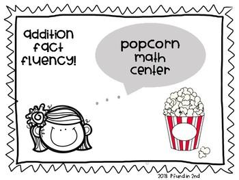 Addition Popcorn Math Center