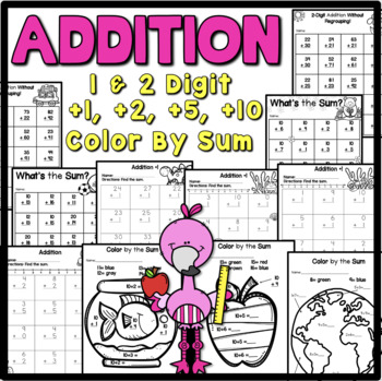 Addition Practice {1 and 2 digit Addition}