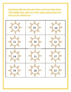 Addition Practice- 10 More!