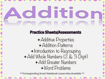 Addition Practice Worksheets/Assessments
