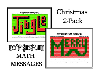 Addition Practice 2-Pack Christmas Hidden Messages