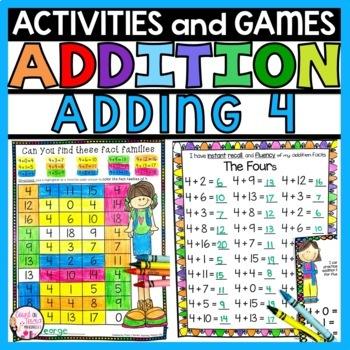 Addition Practice Activities Plus 4