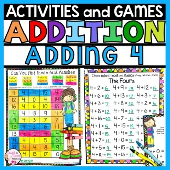 Addition Practice Activities Plus 4