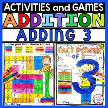 Addition Practice Activities Plus 3