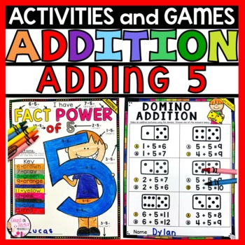 Addition Practice Activities Plus 5