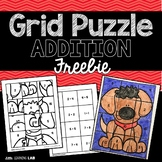 Addition Practice | Addition Grid Puzzle | Math Activity FREEBIE