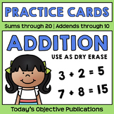 Addition Practice Cards (Dry Erase)