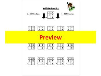 Addition Practice - Carry over