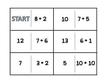 Addition Practice Dominoes