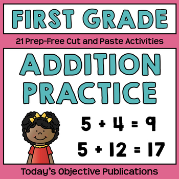 Addition Practice (First Grade Cut and Paste Practice)