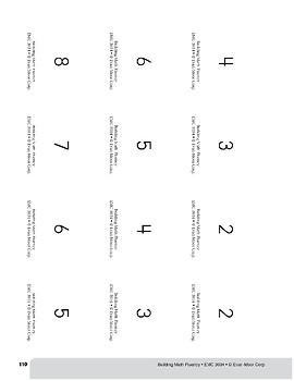 Addition Practice Flashcards, Grade 2
