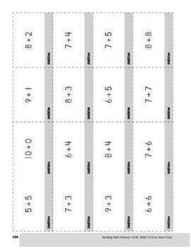 Addition Practice Flashcards, Grade 3