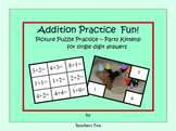 Addition Practice Fun for Single Digit Answers