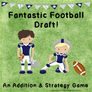 Addition Practice Game: Fantastic Football Draft (Sums to 12)