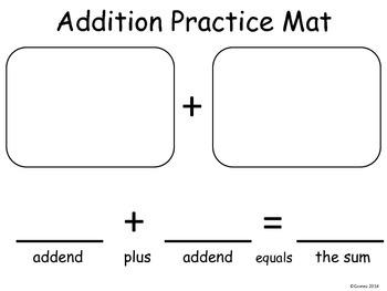 Addition Practice Mat