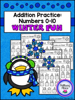 Addition Practice: Numbers 0-10 - Winter
