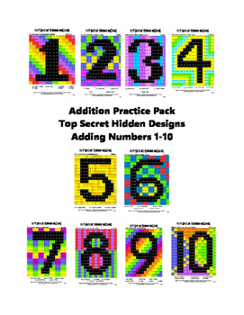 Addition Practice Pack Adding Numbers 1-10
