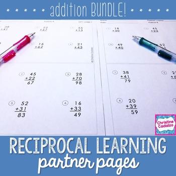 Addition Practice Partner Pages- BUNDLE