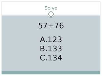 Addition Practice Problems