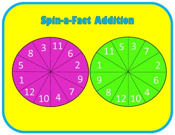 Addition Practice Spinner Mat (K-3)