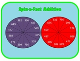 Addition Practice Spinner Mat (3-5)