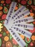 Addition Practice Strips - Numbers 1 to 10