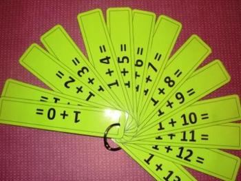 Addition Practice Strips - Numbers 1 to 10 - Black & White