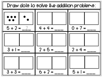 Addition Practice Within 10: Drawing Pictures Strategy