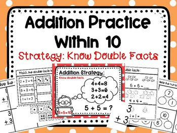 Addition Practice Within 10: Knowing Double Facts