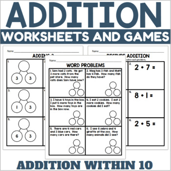 Addition Practice Worksheets and Games