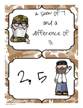 Addition Practice with Duck Dynasty