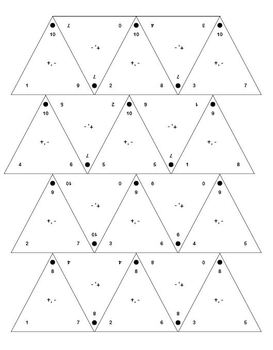 Addition Printable Fact Family Triangles