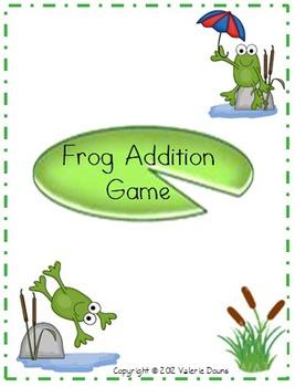 Addition Problem File Folder Game (FROG THEME)