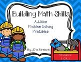 Problem Solving Printables (Addition) - Construction Edition