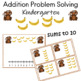Addition Problem Solving sums to 10
