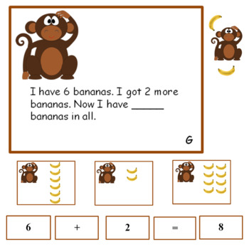 Addition Problem Solving sums to 10   Answer Key