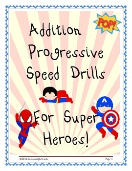 Addition Progressive Speed Drills