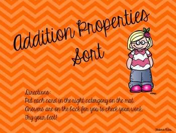 Addition Properties Sort