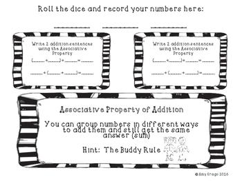 Addition Properties-Activity Mats for Third Grade