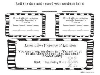 Addition Properties-Activity Mats for Third Grade