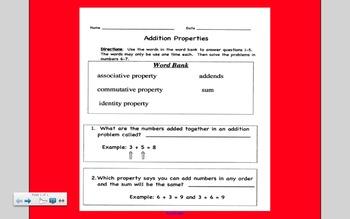 Addition Properties - Associative, Identity, Commutative Properties
