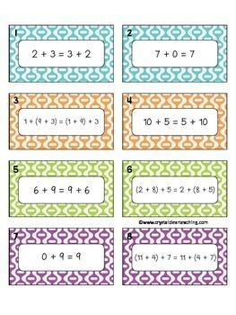 Addition Properties Equation Sort