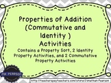 Addition Properties (Identity and Commutative Properties of Addition) Activities