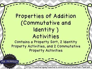 Addition Properties (Identity and Commutative Properties o