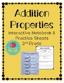 Addition Properties Interactive Notebook & Practice Sheets