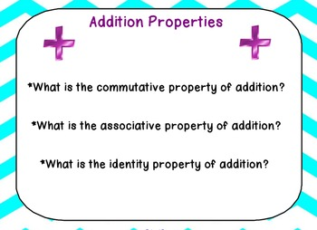 Addition Properties Lesson