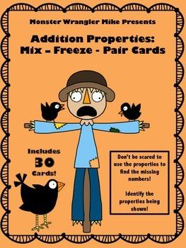 Addition Properties: Mix - Freeze - Pair Cards